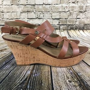 Guess Women's Brown Cork Wedges Size 10M